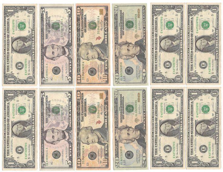 Fake Money For Kids Printable Sheets Play Money
