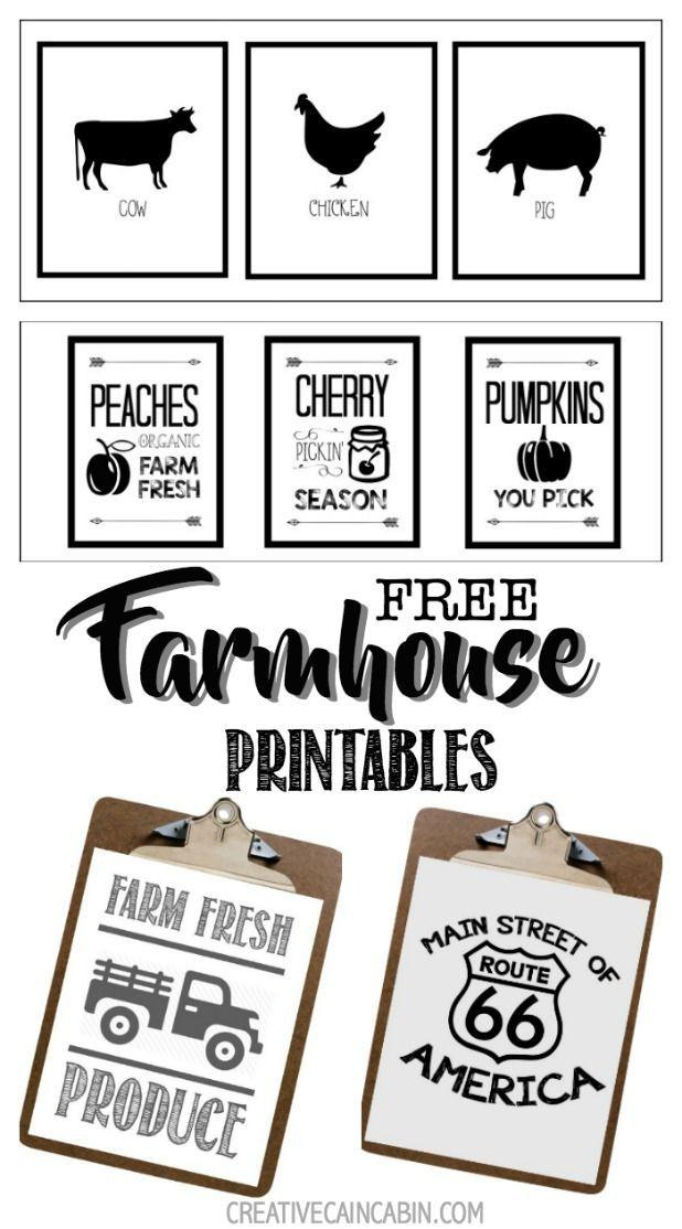 Farmhouse Farm Animal Printables Farmhouse Baskets