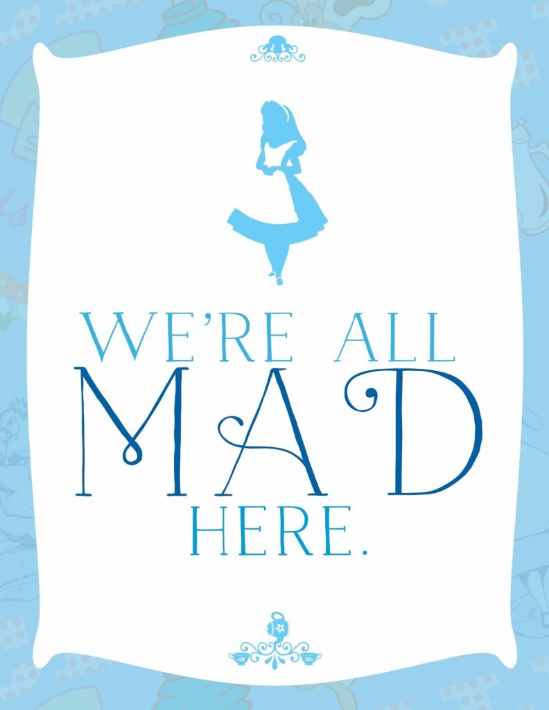 Free Alice In Wonderland Tea Party Printables From