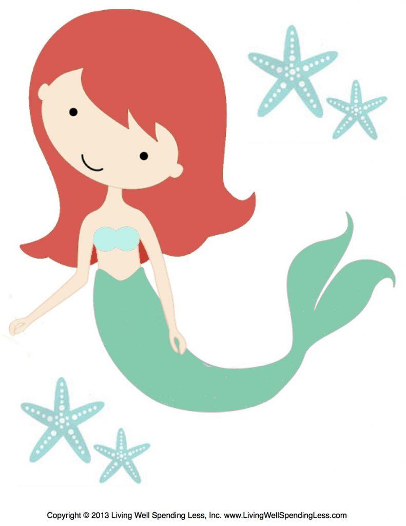 Free Mermaid Printables For Kids Beach Birthday Living