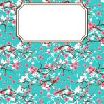 Free Printable Cherry Blossom Binder Cover Template