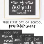 Free Printable First Day Of School Signs 2020 2021