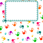 Free Printable Handprint Binder Cover Template Download