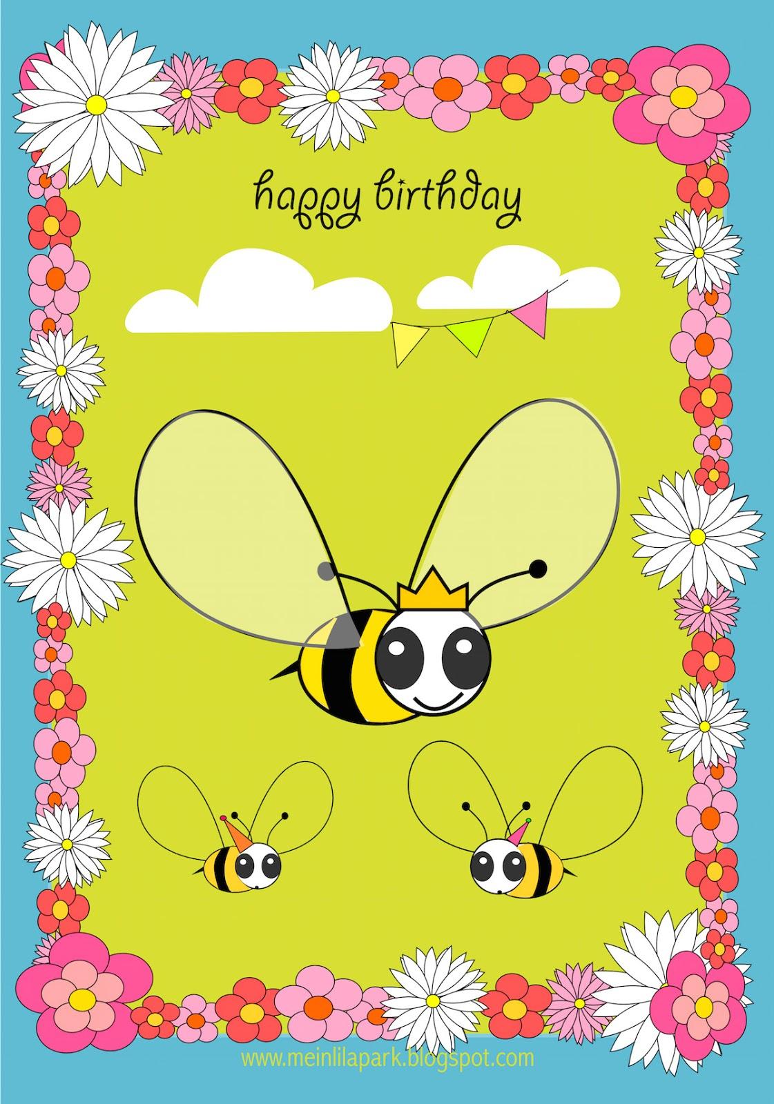 Free Printable Happy Birthday Card For Kids Ausdruckbare