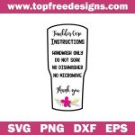 Free Tumbler Care Instructions SVG TopFreeDesigns In