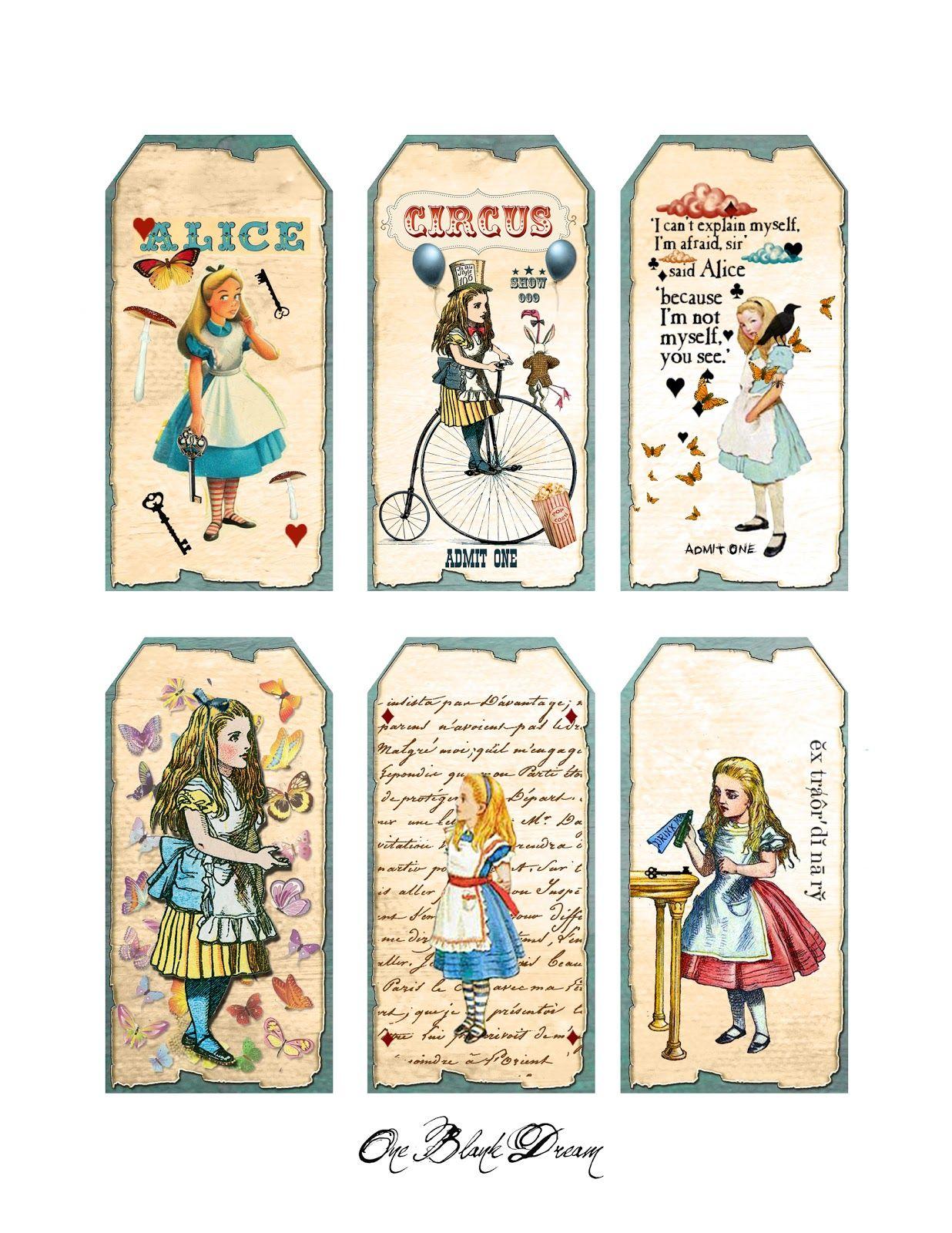 Free Wonderland Printables Free Alice In Wonderland Tags