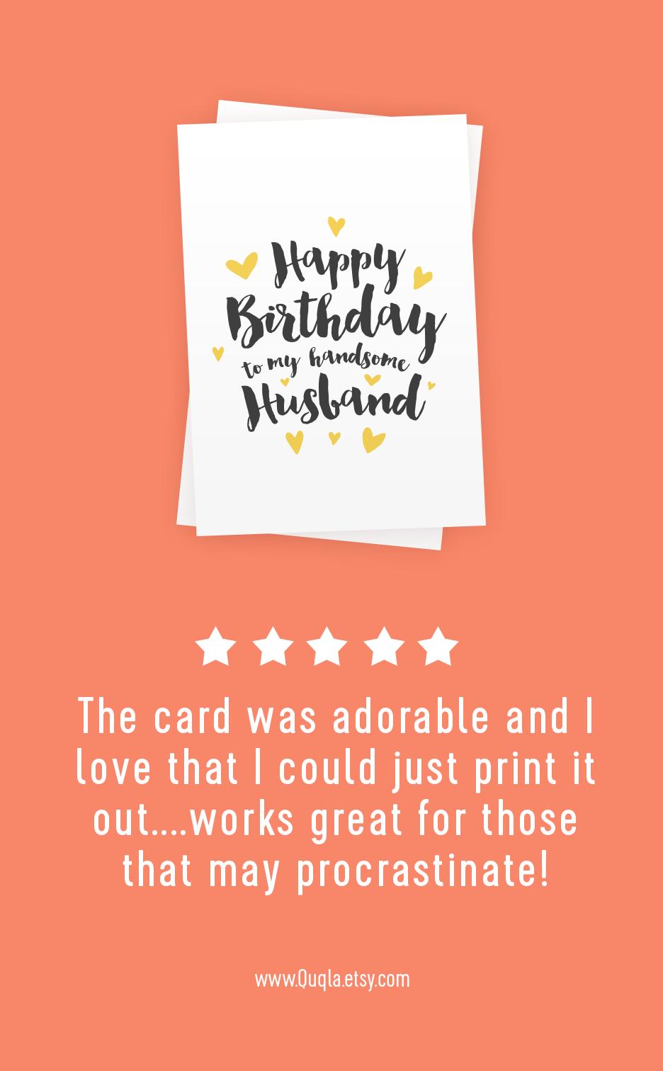 Printable Happy Birthday Card For Husband Happy Birthday